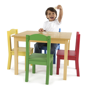 Kids children summit study table & 2/4 primary chairs white bedroom furniture