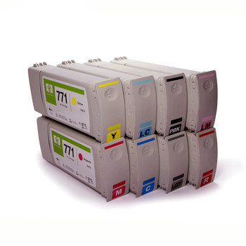 Supercolor 8 Pieces For HP 771 775-ML For HP Designjet Z6200 Cartridges For HP DesignJet Z6200 Z6600 Z6800 Printer