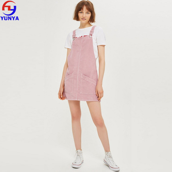fast delivery detailing attractive price New Fashion Winter Baby Pink Corduroy Cotton Women Pinafore School Dress -  Buy Pinafore Dress,Cotton Pinafore Dress,Pinafore School Dress Product on  ...