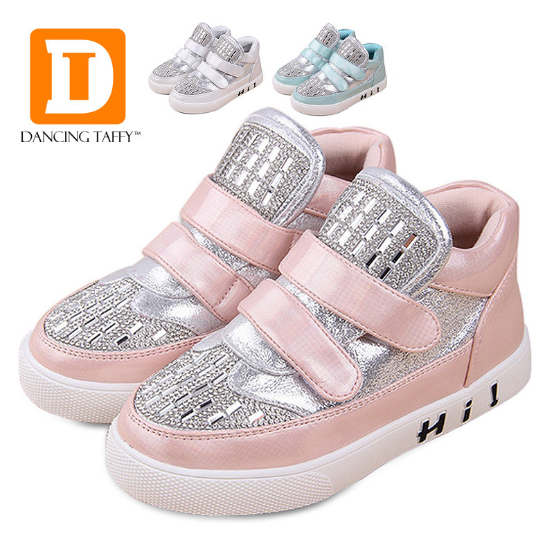 New 2015 Autumn & Winter Fashion Children Shoes Casual Toddler Boots Crystal Kids Shoes Diamond Shining Kids Boots For Girls