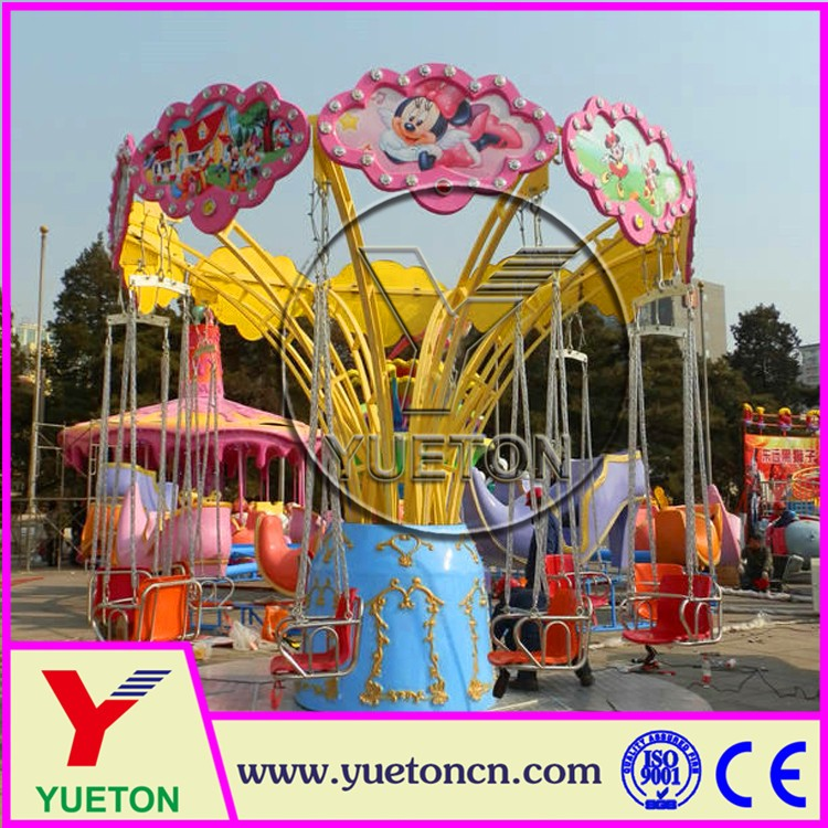 Zhengzhou Yueton Amusement Park Play Games Funfair Rides Flying Chair
