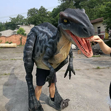Event party realistic velociraptor raptor dinosaur costume for sale