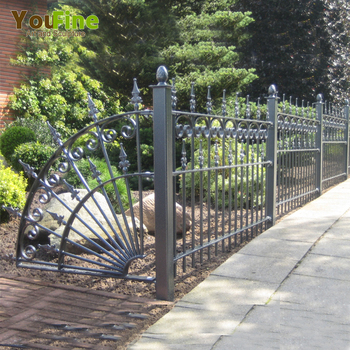 Outdoor Grill Used Wrought Iron Fence Panels Decor For Garden