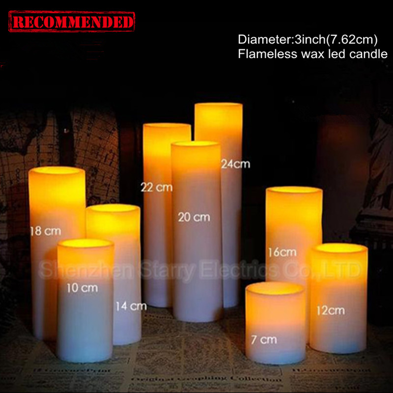 hot sale flickering flame led wax candles