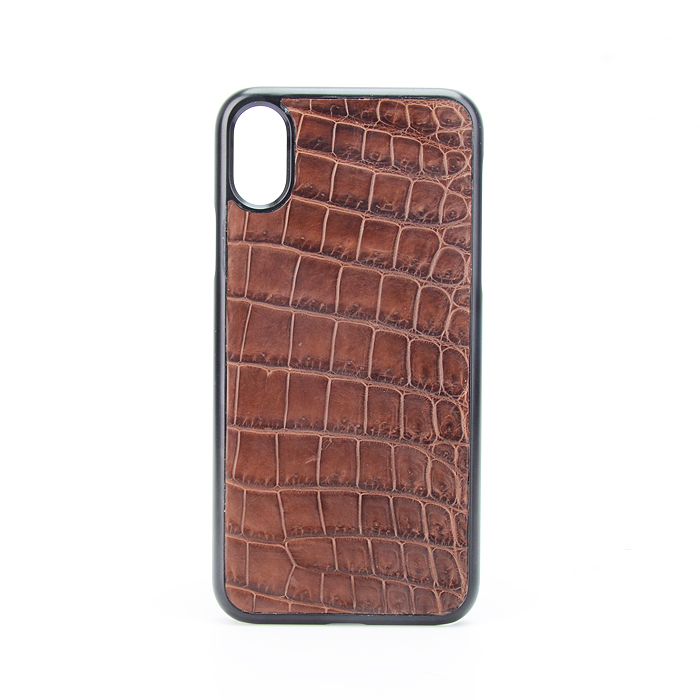 Genuine Crocodile Leather Hot Stamping Logo Card Holder Phone Case