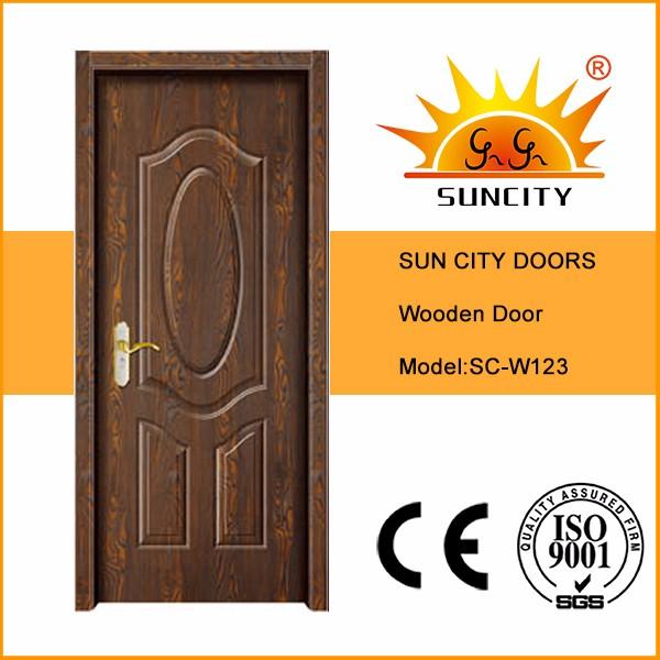 Sc-w123 House Gate Design Cheap Price Melamine Interior Wood Door ...