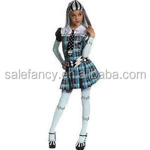 Fashion girls frankie stein monster high costume kids fancy dress costumes QBC-6169