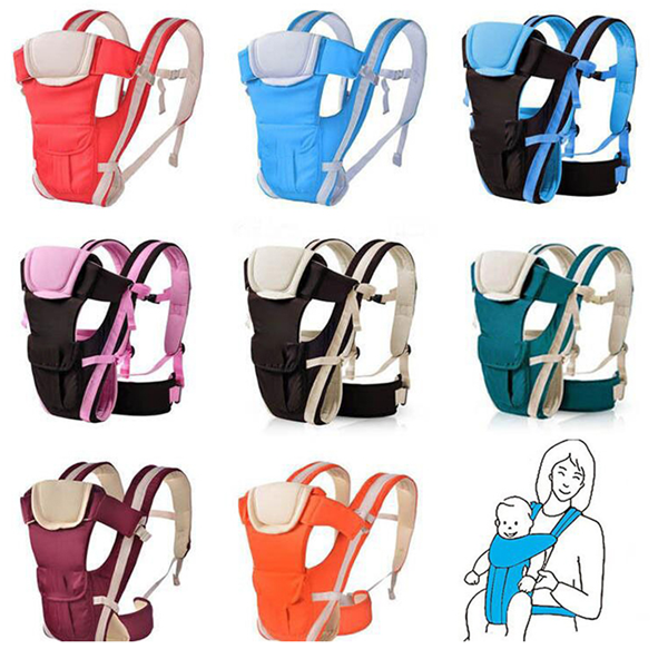 360 Degree Ergonomic Comfortable Breathable Baby Carrier Backpack Front and Back used Baby Wrap