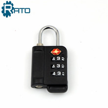 3 Digits TSA Approved Vertical Combination Luggage Lock