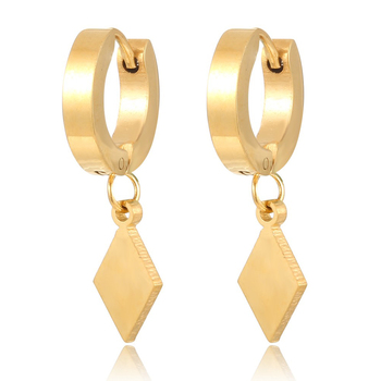 Whole Saudi Gold Jewelry Hanging Hoop Earring Beautiful Dangle Design For Women