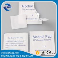 disposable medical steriled alcohol disinfection cotton pad swabs with Aluminum foil paper pouch