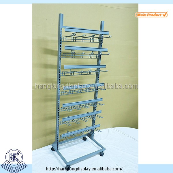 commercial use durable gridwall hanging rack