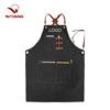 Custom aprons printed logo kitchen apron barber denim aprons