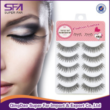 high quality cheap price synthetic hair strip false eyelash