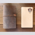 Business smooth comfortabstationery vintage genuine leather cover notebook, stationary soft leather diary, leather portfolio