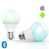 dimmable lighting RGB+Warm white mini smart cheap E27/E26/B22 bluetooth led bulb 4.5w