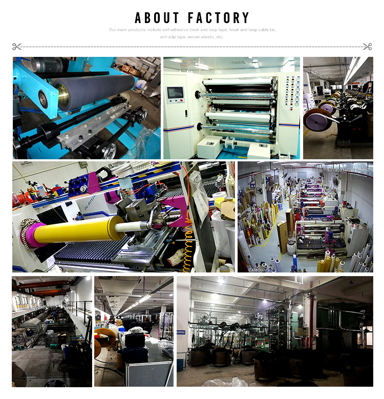 Factory manufacturers hook loop and tape roll