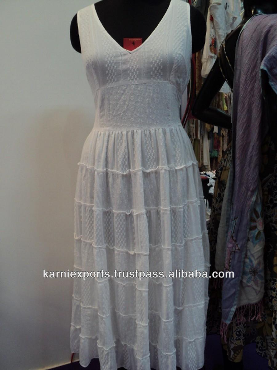 Witte katoenen jurk