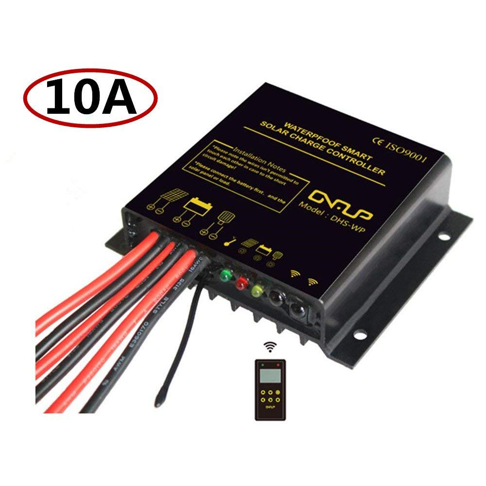 10A 12V/24V Solar Charge Controller, PWM Charge Regulator Intelligent by Chinaland Solar,IP68 Waterproof for Outdoor Solar Power LED Display Street Light System