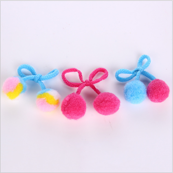 20mm bow with rope pompom doll head flower clothing sleeve accessories