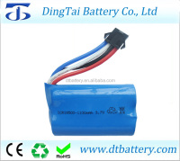 18500 li-ion battery 1100mah 7.4v 15C rc helicopter rc car rc racing boat battery