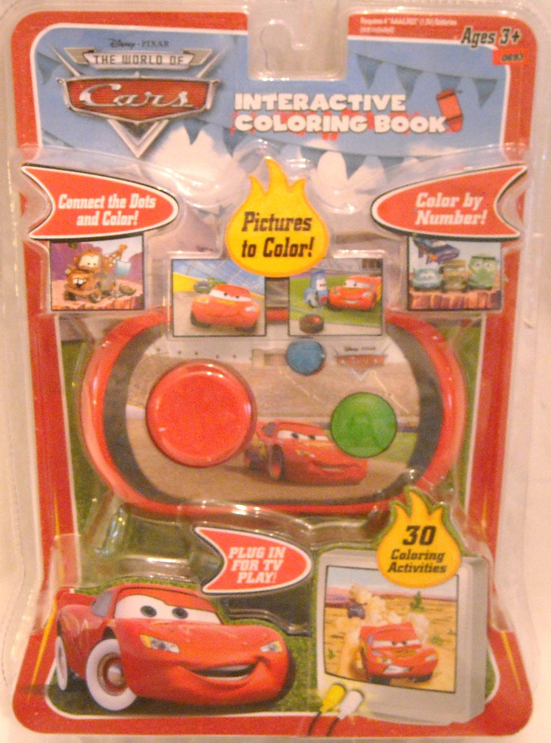 Buy Disney Pixar The World of Cars Interactive Coloring Book in ...