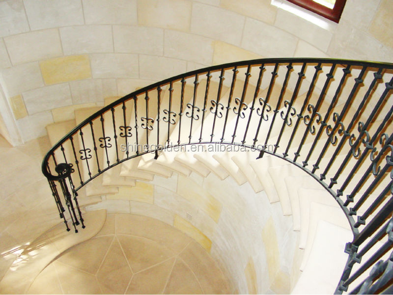 Hand forge wrought iron spiral stairs