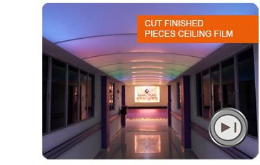designs full stretch ceiling materials installation accessoires and videos 5M width UV printed PVC Stretch ceilings film