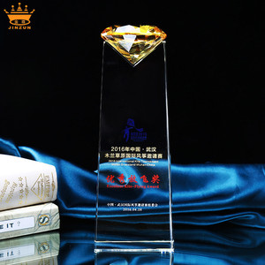China manufacturer direct wholesale cheap high quality custom laser trophy and medals awards blank trophy diamond