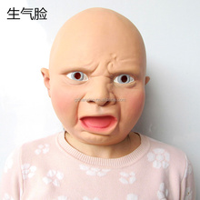 Customizable Famous Latex Baby Full Head Mask for Halloween Party