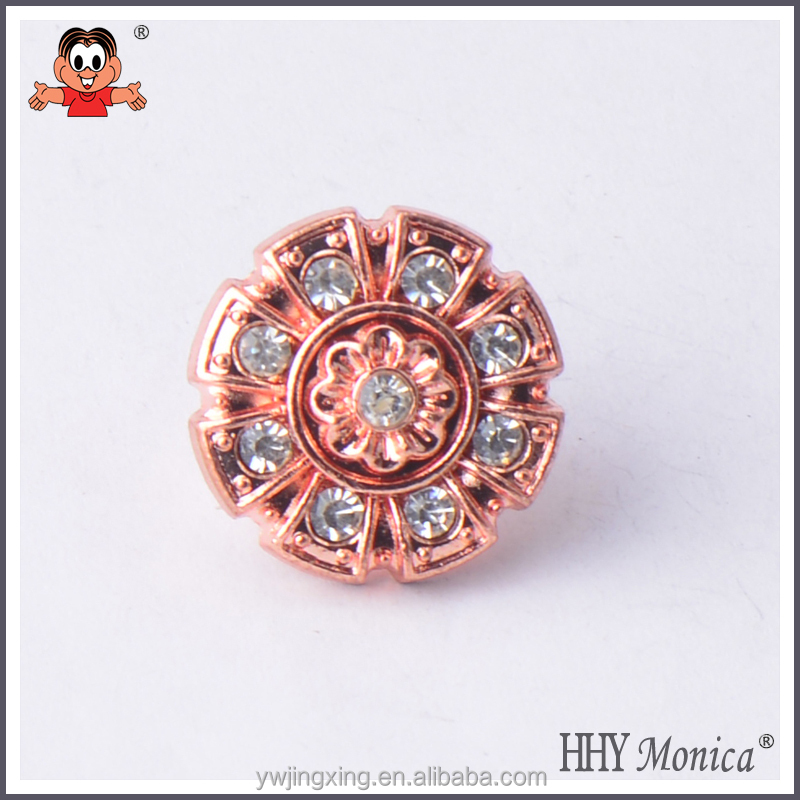 red copper gold rhinestone round fashion button fro jeans