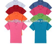 Pique polyester cotton polo t-shirt ,colorful pique polo shirt ,china pique t-shirt