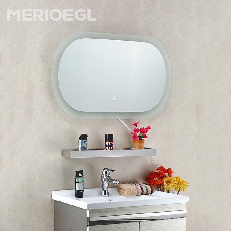 venta caliente d espejo de aumento led para hotel decorar