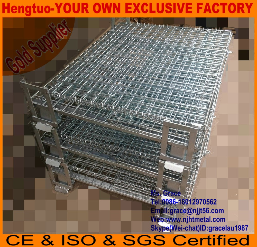 Heavy duty Wire mesh bulk collapsible containers