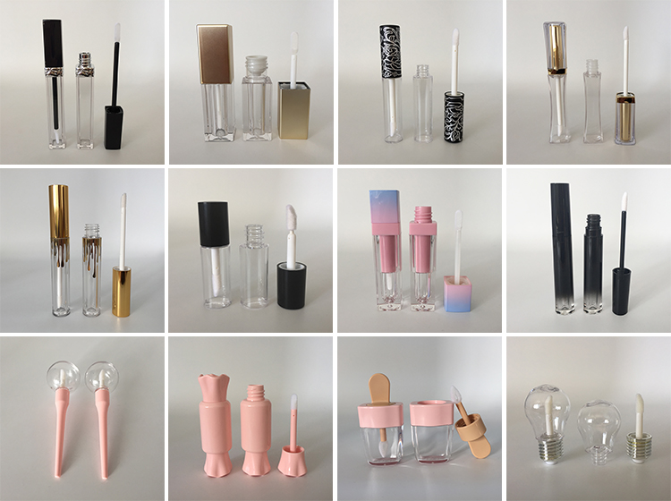 Gold lieferant kunststoff schlanke taille lip gloss rohr, lip gloss verpackung container fall