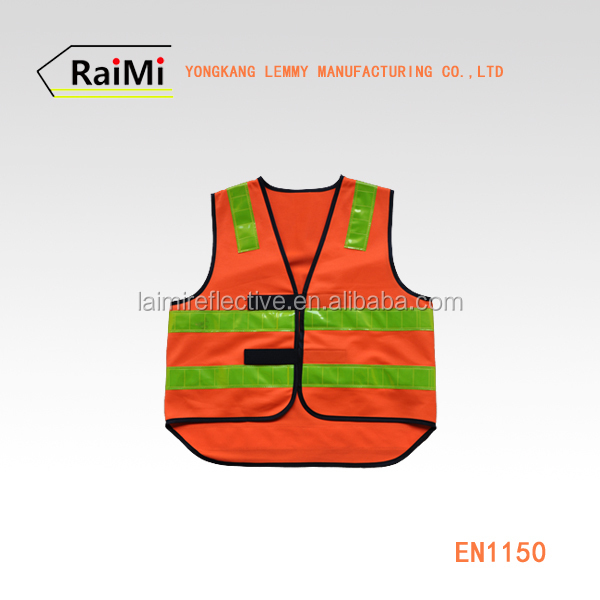 High visible safety vest classic vest & chalecos reflectantes wth pvc for worker wear