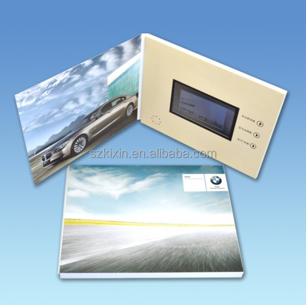 4.3inch video greeting card video invitation card, new car public car advertising
