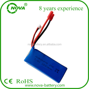 2015 hot sales syma x8c battery 903475 lipo battery 2s 7.4v 2000mah 25c high rate lipo battery for syma x8c
