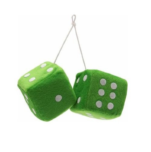 Customized OEM ! Green 15cm stuffed soft toy, plush dice toy