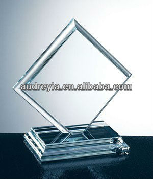 personalized blank glass crystal awards plaque wholesale