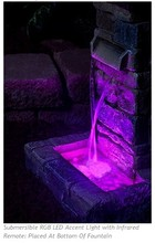 water glow led faucet light