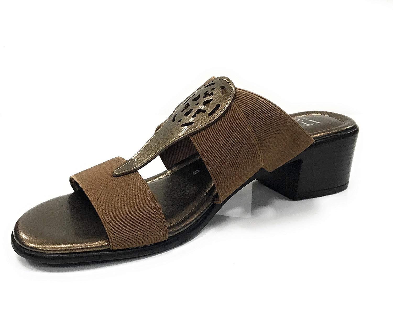 f70b22670cabbb Get Quotations · ITALIAN Shoemakers Italian 5490S8 Slip-On Heel Sandals