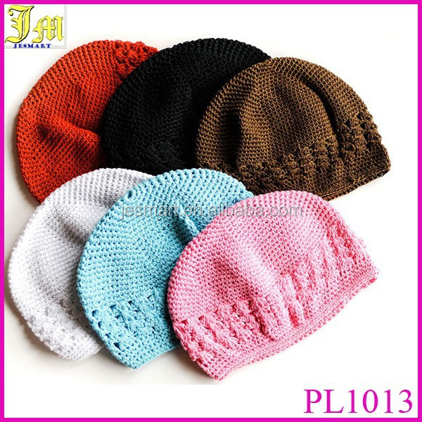 Wholesale Baby Toddler Children Girl Boy Knit Crochet Beanie Kufi Hats Cap Many Colors Available
