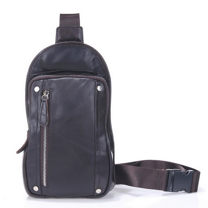 3db200e01d81 Buy Vintage cowhide leather crossbody bag genuine leather chest bag casual  sport bag chest pack small men bags travel messenger in Cheap Price on  m.alibaba. ...