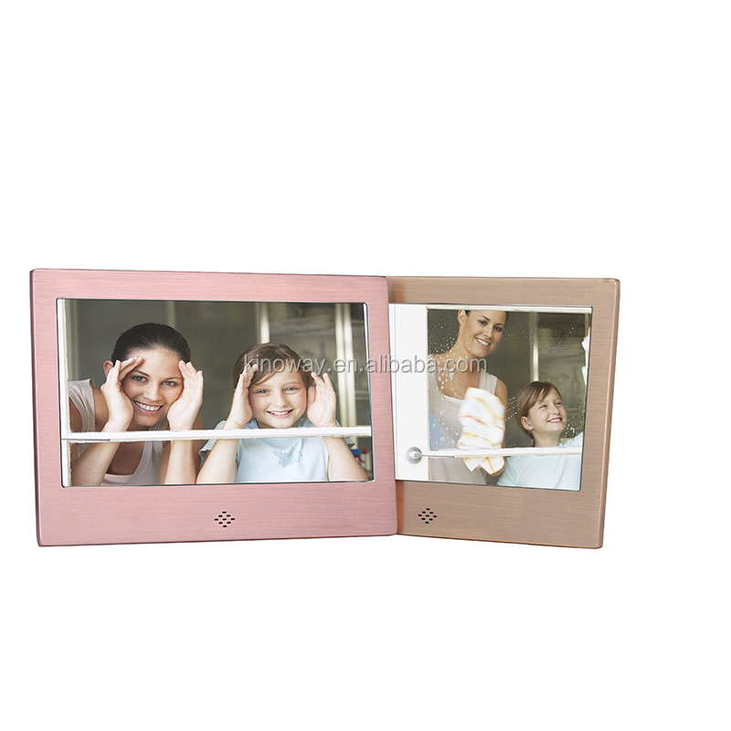 7inch multi-function metal digital photo frame, SD card digital picture frame CE ROHS FCC
