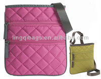 Trendy Chic Designer Pink Handmade Crossbody Quilted Purses Bags