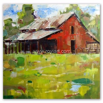 Wholesale Modern Wall Decor Abstract Landscape Simple Oil Painting