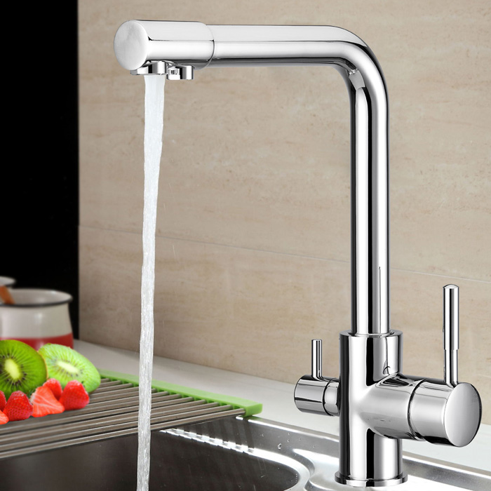 Chrome Plated Water Filter 3 Way Ro