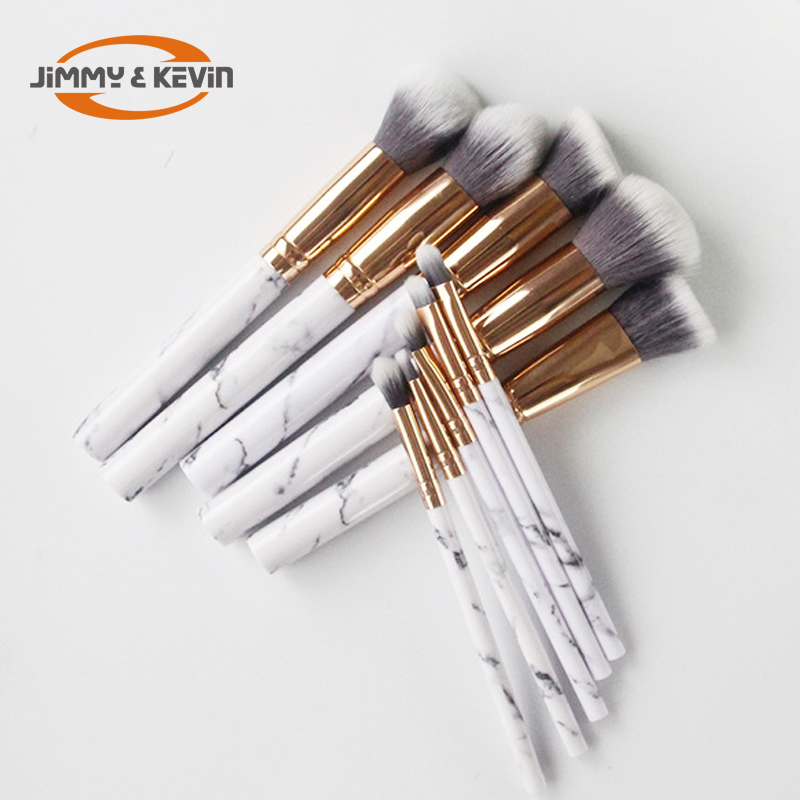 2019 New Arrivals Hot Verkoop Marmer borstel 10 pcs Makeup Brush Set