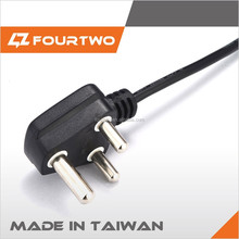 Made in Taiwan high quality low price swivel power cord hair flat iron,power cord with switch,tv power cord